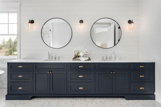cabinet painting in bathroom