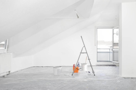interior attic painting